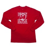 Specialty Prints Youth Football Dog Long Sleeve Tee in Red