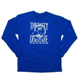 Specialty Prints Youth Football Dog Long Sleeve Tee in Royal
