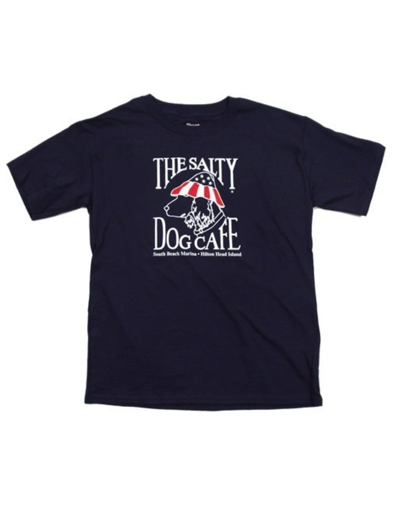 Specialty Prints Youth Patriot Dog in Navy