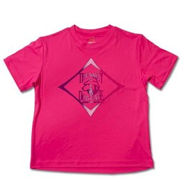 Hanes Youth Rash Guard in Wow Pink