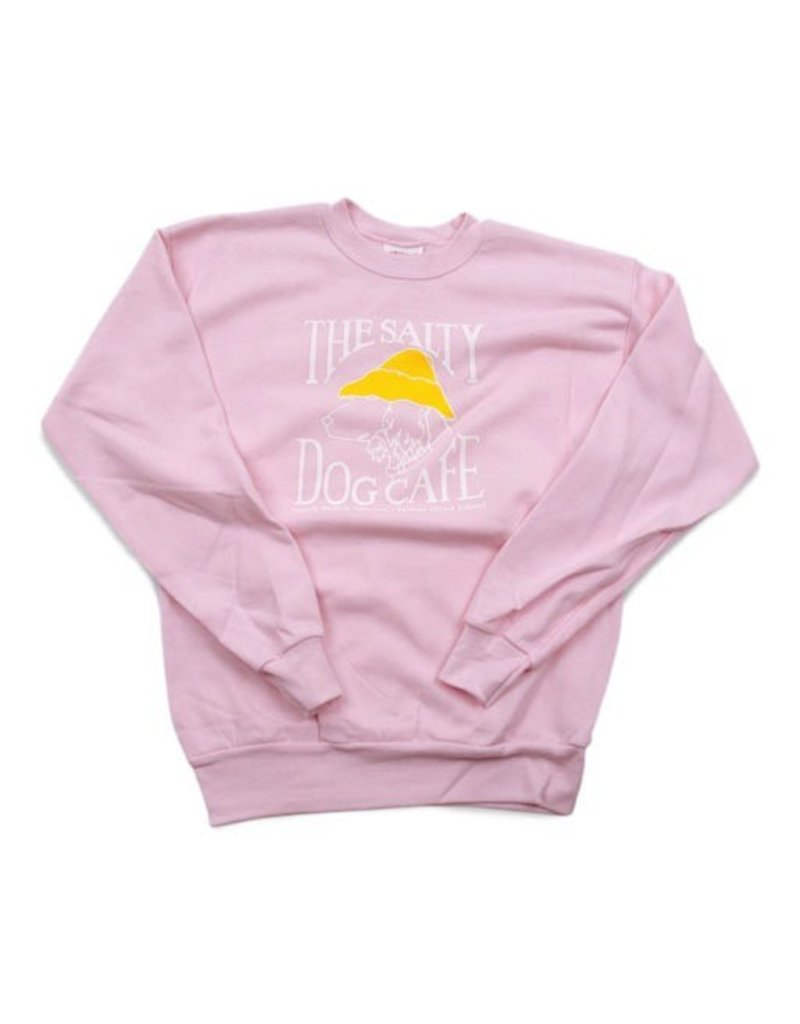 Sweatshirt Youth Crew Neck Sweatshirt in Pale Pink - The Salty Dog Inc