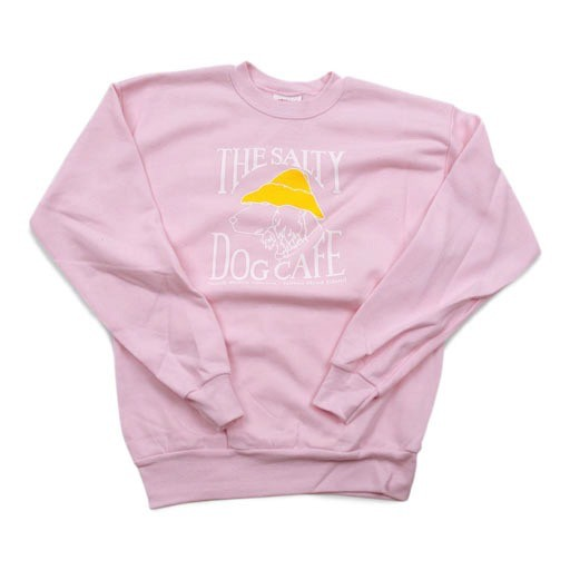 Hanes Youth Crew Neck Sweatshirt in Pale Pink