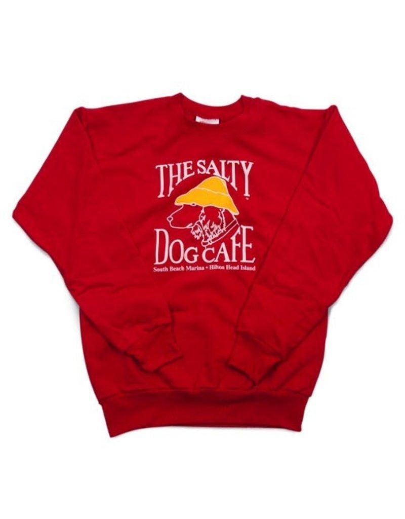 Hanes Youth Crew Neck Sweatshirt in Red