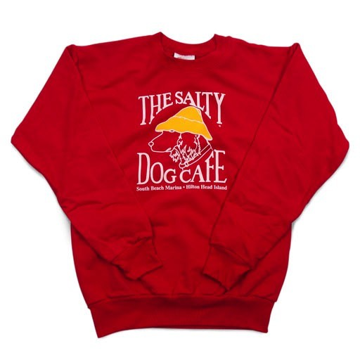Hanes Youth Crew Neck Sweatshirt in Red