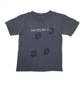 T-Shirt 'The Dog Did It…' Youth Tee in Blue Jean