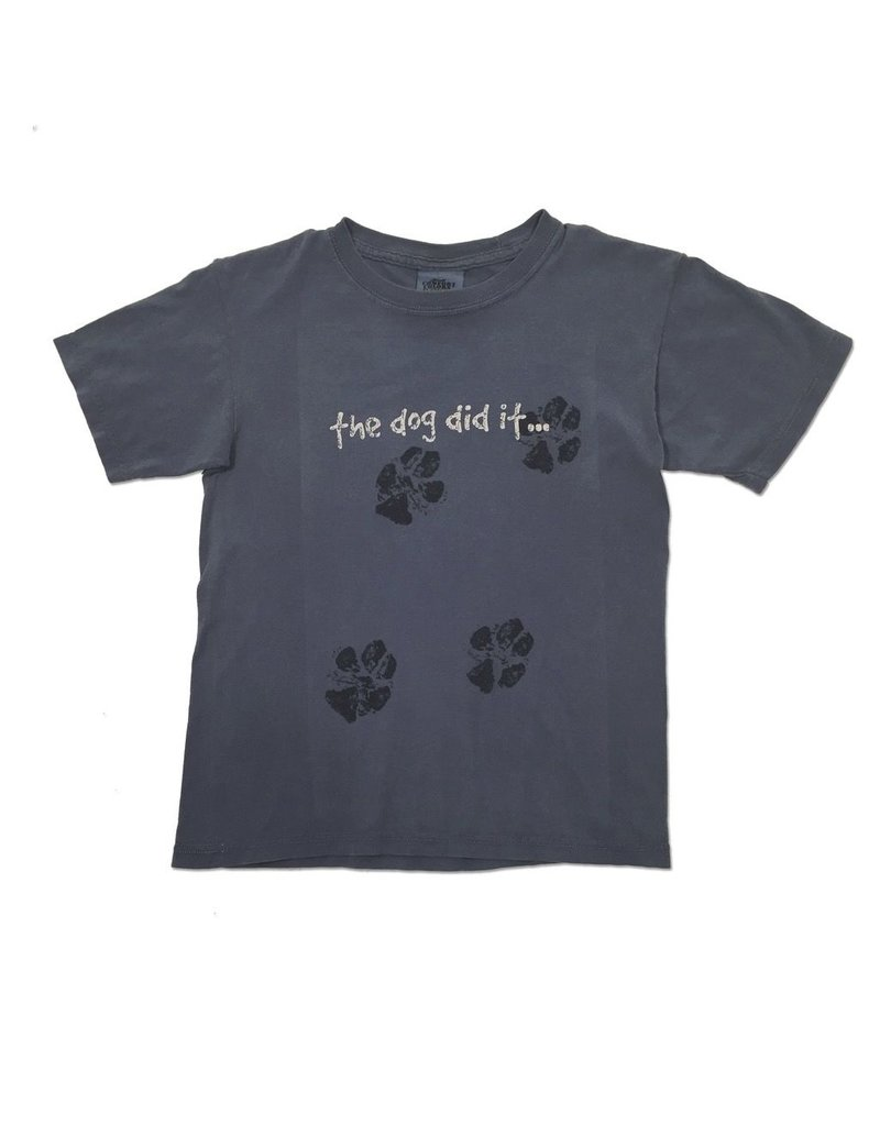 Comfort Colors 'The Dog Did It…' Youth Tee in Blue Jean