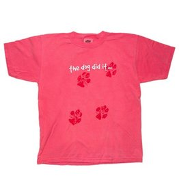 T-Shirt 'The Dog Did It…' Youth Tee in Crunch Berry