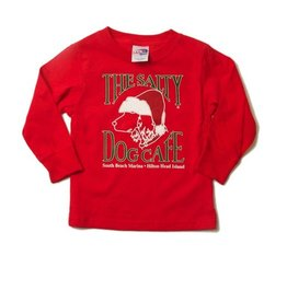 LAT Apparel Youth Santa Dog Long Sleeve Tee