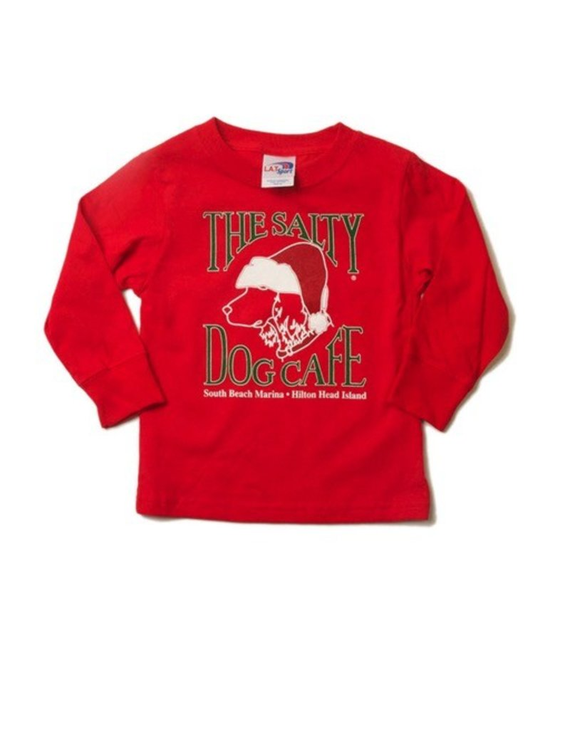 Specialty Prints Youth Santa Dog Long Sleeve Tee