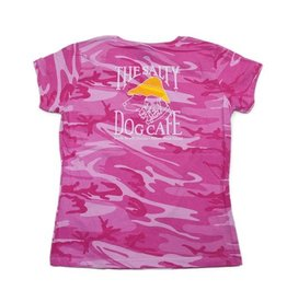 Specialty Prints Women's Short Sleeve Pink Camo