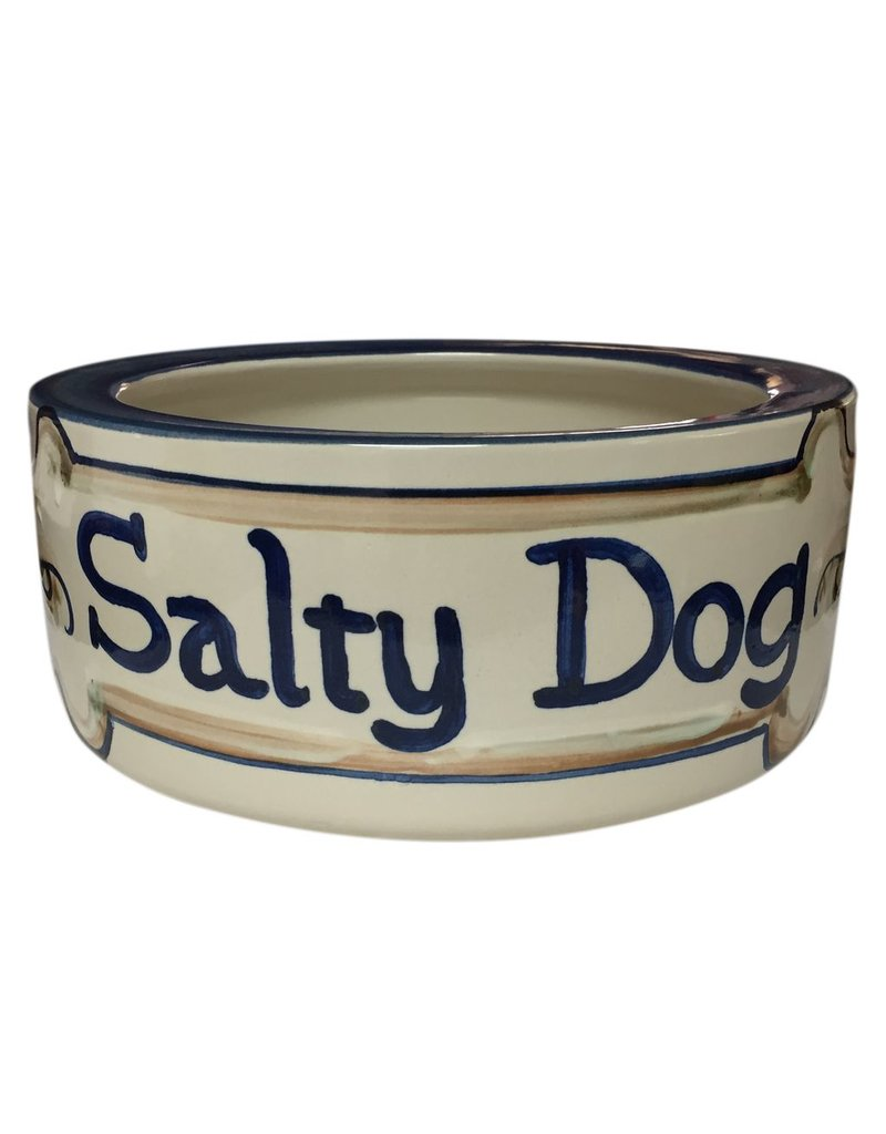 Louisville Stoneware 9 in Stoneware Dog Bowl
