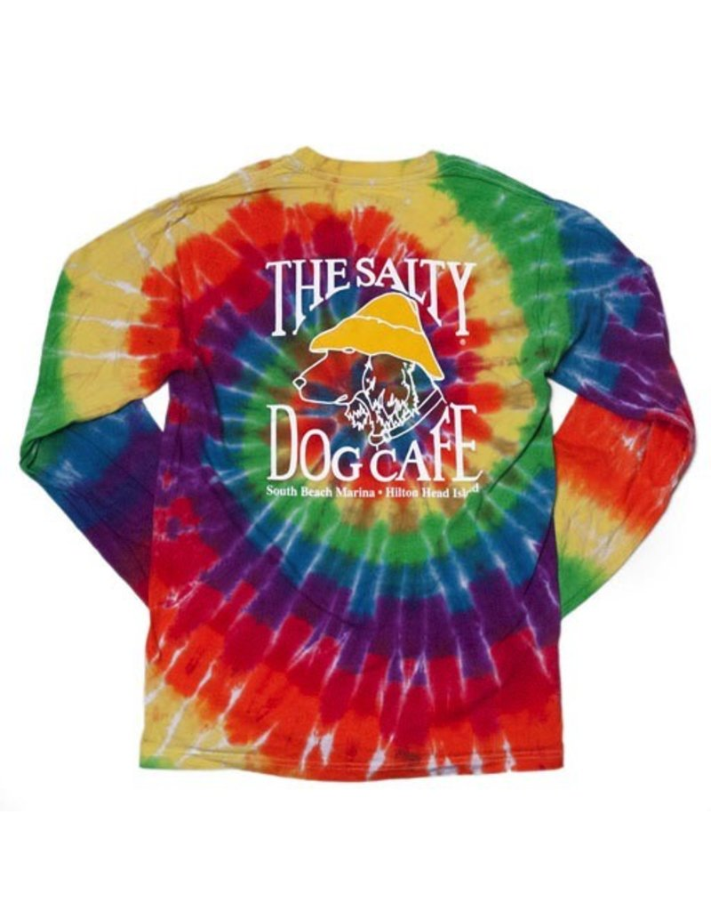 T-Shirt Long Sleeve Rainbow Swirl Tie-Dye