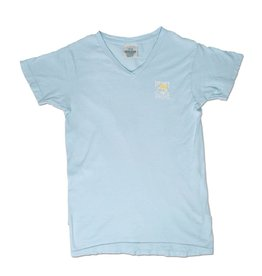 T-Shirt Women's Comfort Colors V-Neck in Chambray