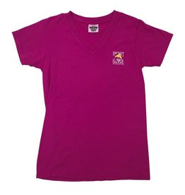 T-Shirt Women's Comfort Colors V-Neck in Raspberry