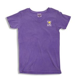 T-Shirt Women's Comfort Colors V-Neck in Violet