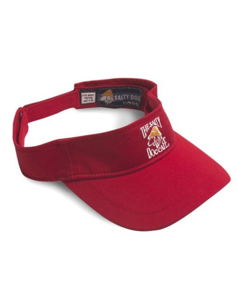 Hat Youth Visor in Red