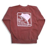 Comfort Colors Blue Water Stonewashed Sweatshirts in Crimson