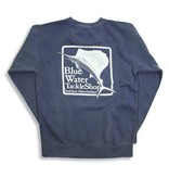 Comfort Colors Blue Water Stonewashed Sweatshirts in Denim