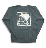 Bluewater Blue Water Stonewashed Sweatshirts in Light Green