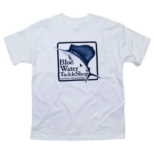 Hanes Blue Water Youth Short Sleeve in White