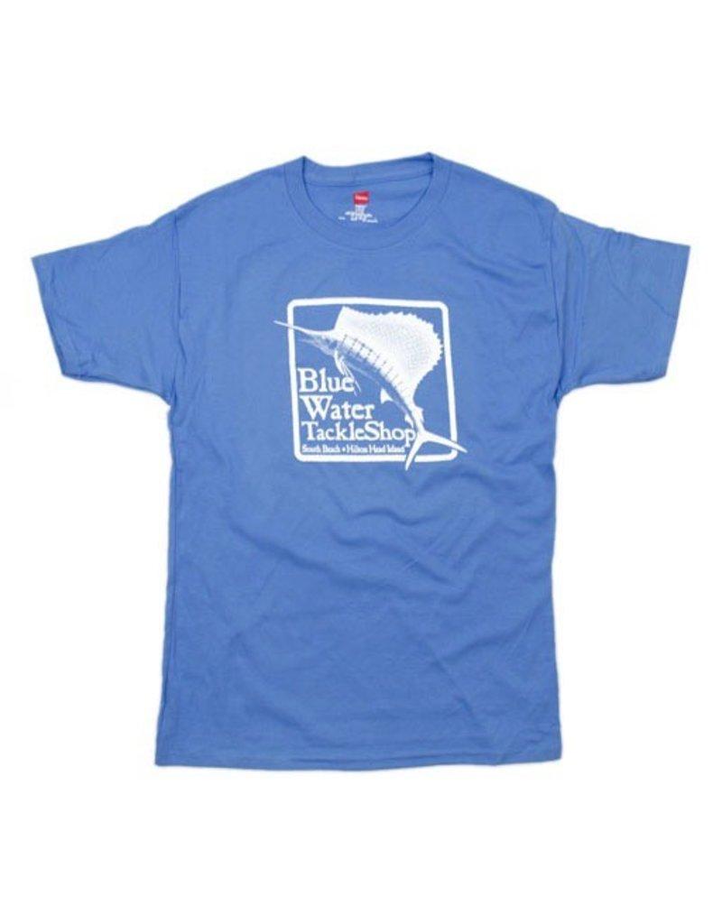 Hanes Blue Water Youth Short Sleeve in Carolina Blue