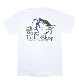 Hanes Blue Water Short Sleeve Crab in White