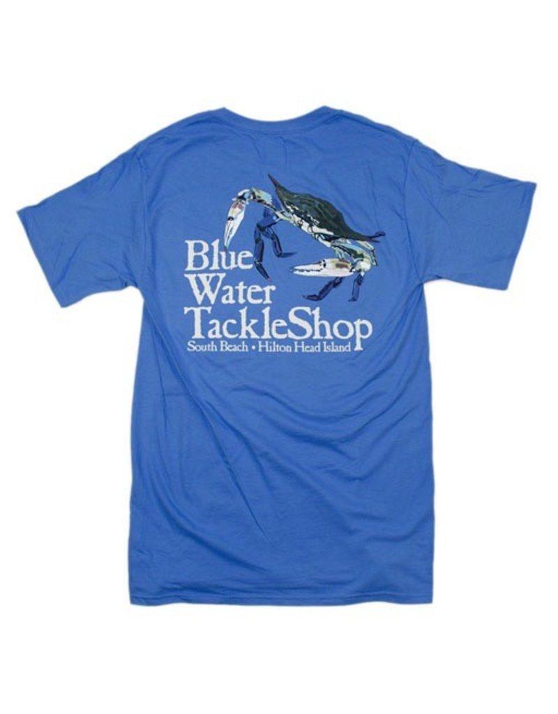 Hanes Blue Water Short Sleeve Crab in Carolina Blue