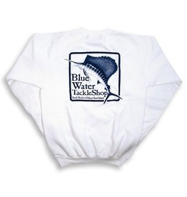 Bluewater Blue Water Crew Neck Sweatshirt in White
