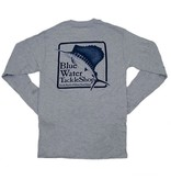 Hanes Blue Water Long Sleeve in Light Steel