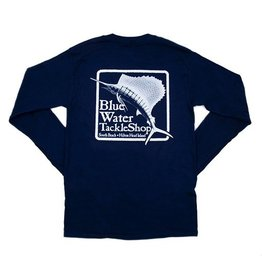 Hanes Blue Water Long Sleeve in Navy