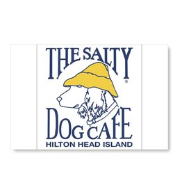 Salty Dog Sticker Postcard