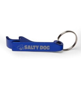 Salty Dog Aluminum Beverage Opener Key Chain in Royal