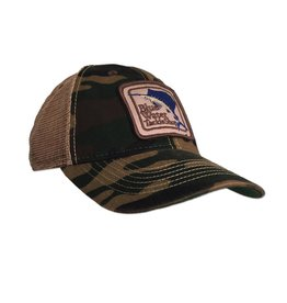 Hat Blue Water Old Favorite Trucker in Camo