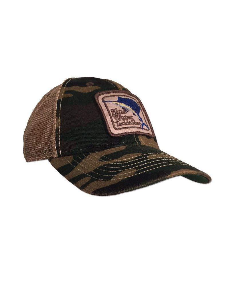 Hat Blue Water Old Favorite Trucker in Camo