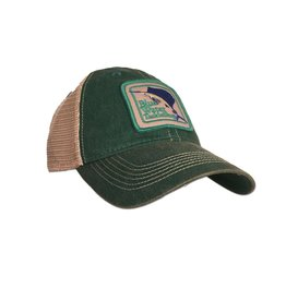 Hat Blue Water Old Favorite Trucker in Kelly Green