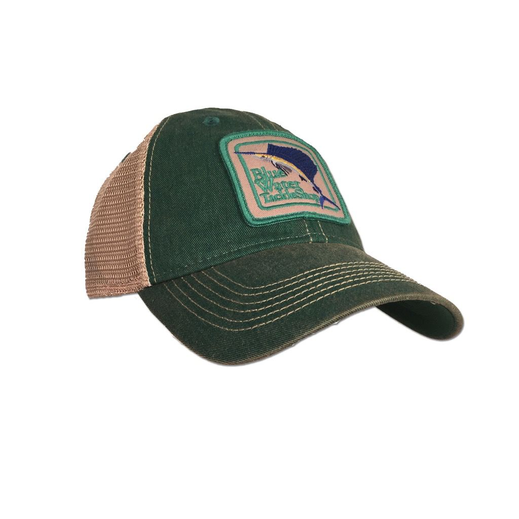Legacy Blue Water Old Favorite Trucker in Kelly Green