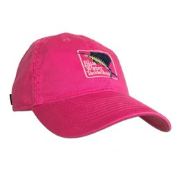 Hat Women's Blue Water Twill Hat in Dark Pink