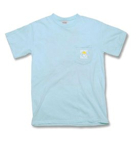 Apparel Short Sleeve Pocket Tee in Chambray