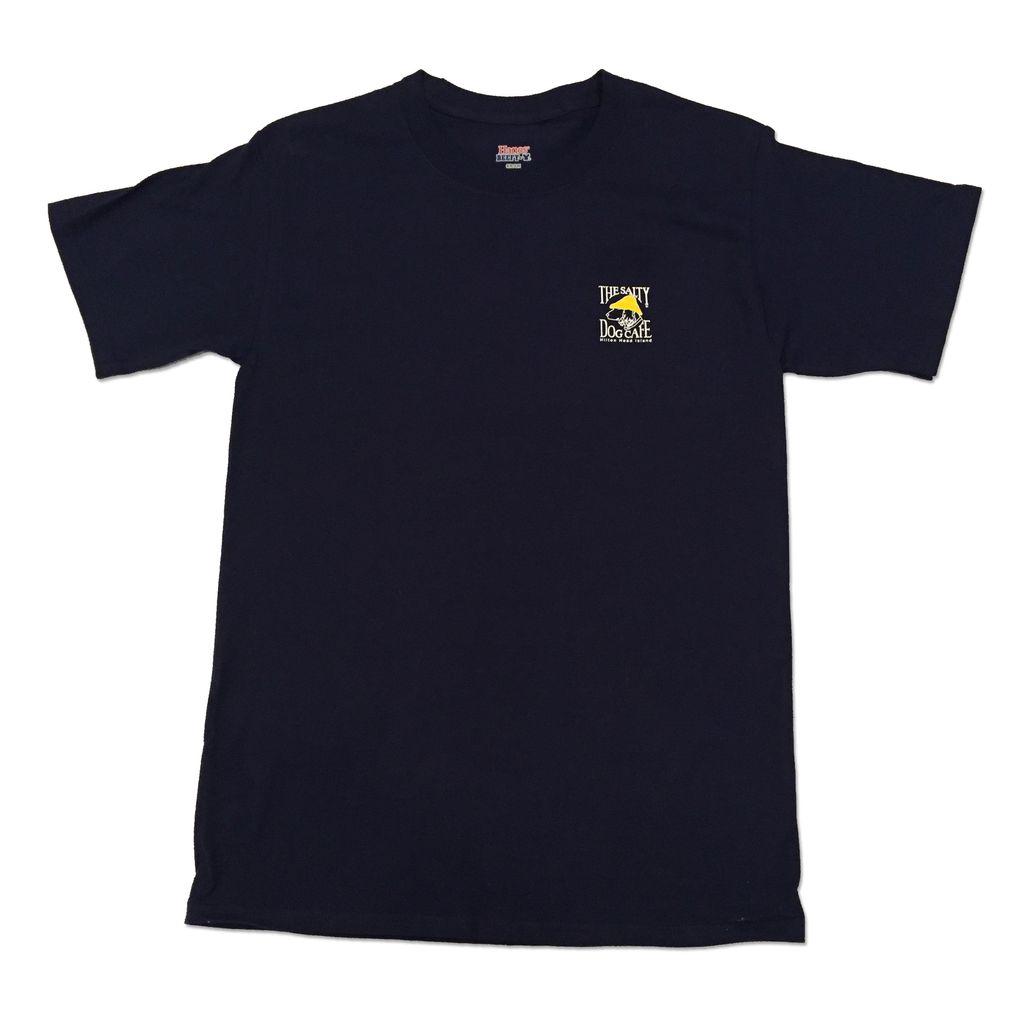 Hanes Hanes Beefy Short Sleeve in Navy