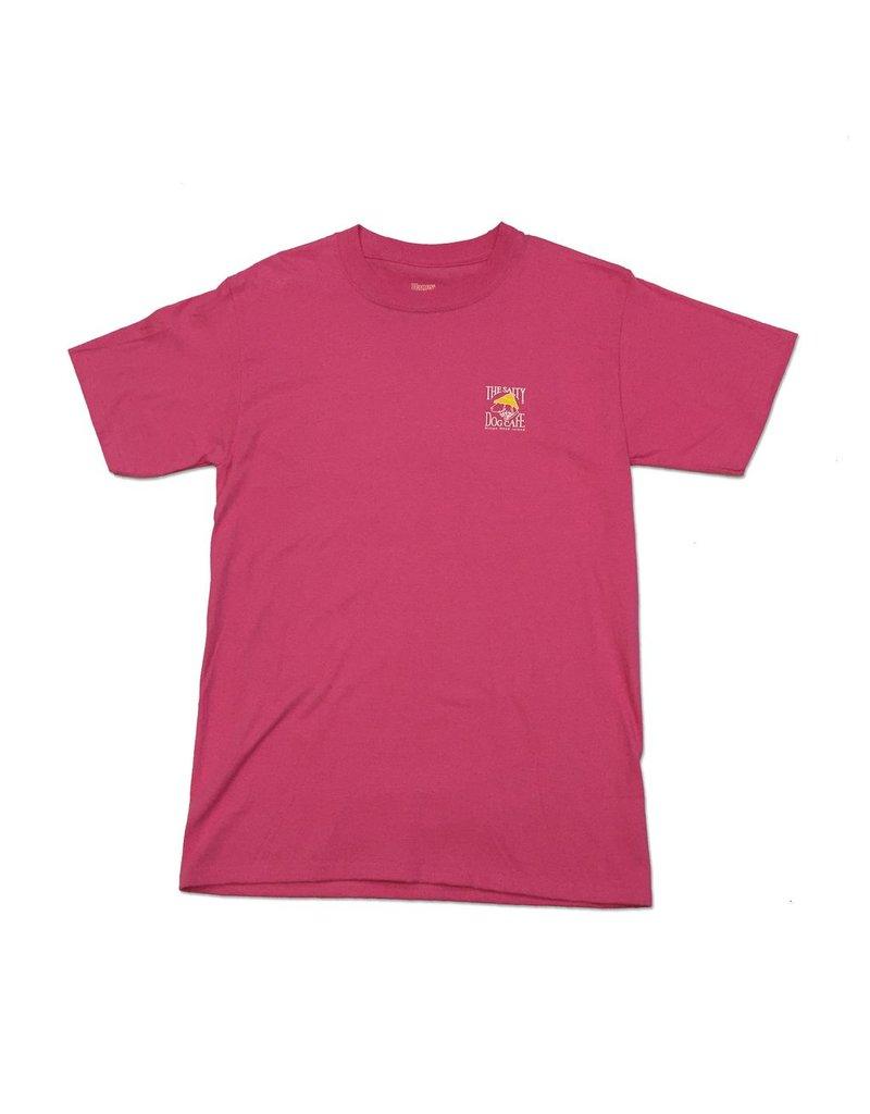 Hanes Hanes Beefy Short Sleeve in Wow Pink