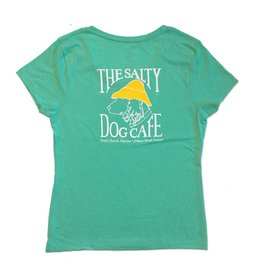 Women's Triblend V-Neck in Breezy Green