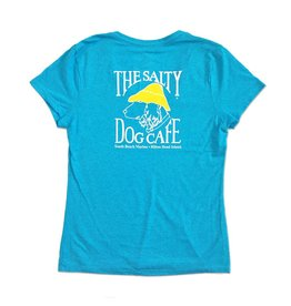 Women's Triblend V-Neck in Turquoise