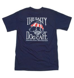 T-Shirt Patriot Dog Short Sleeve in Navy