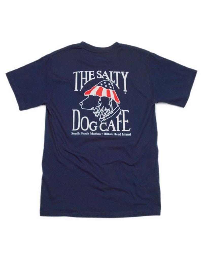 Hanes Patriot Dog Short Sleeve in Navy