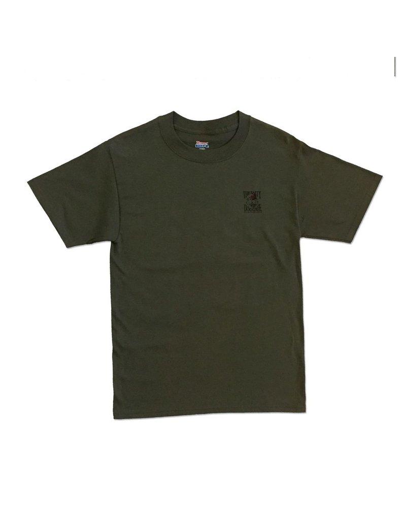 T-Shirt Camo Dog in Fatigue Green