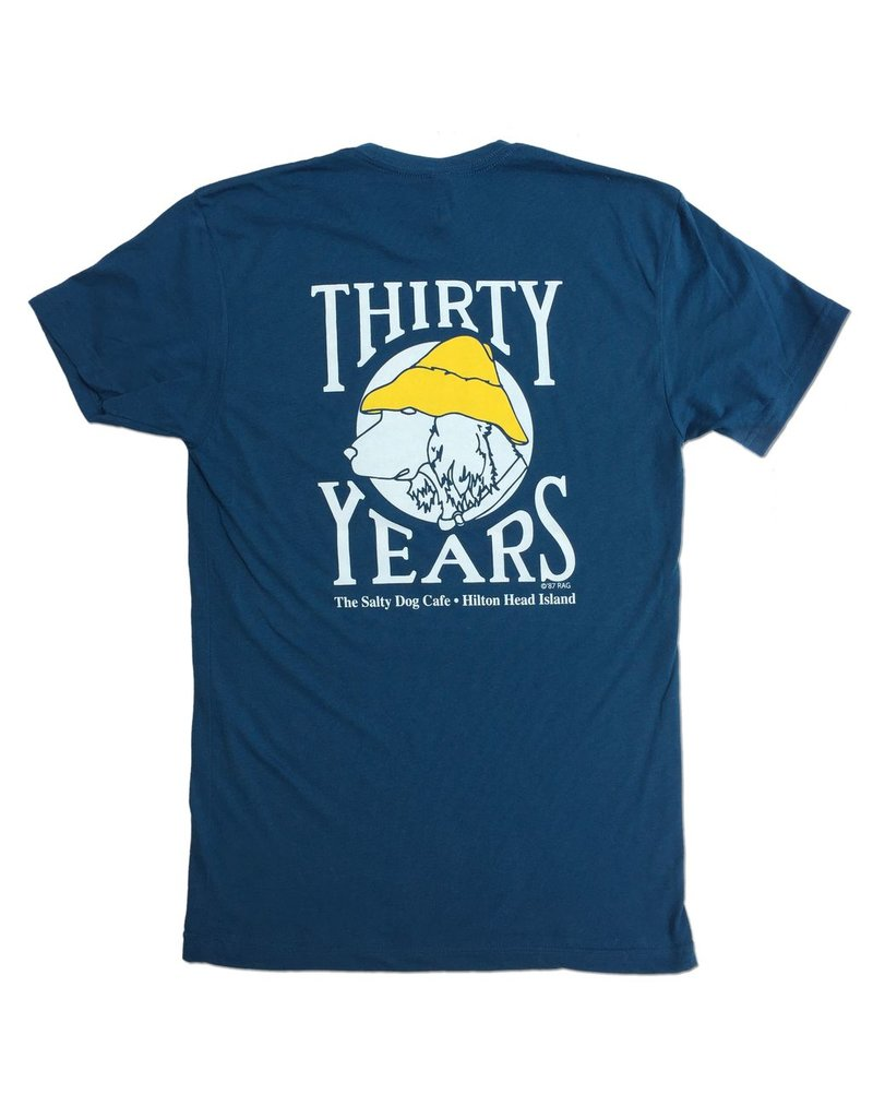 T-Shirt Thirty Years Short Sleeve in Cool Blue
