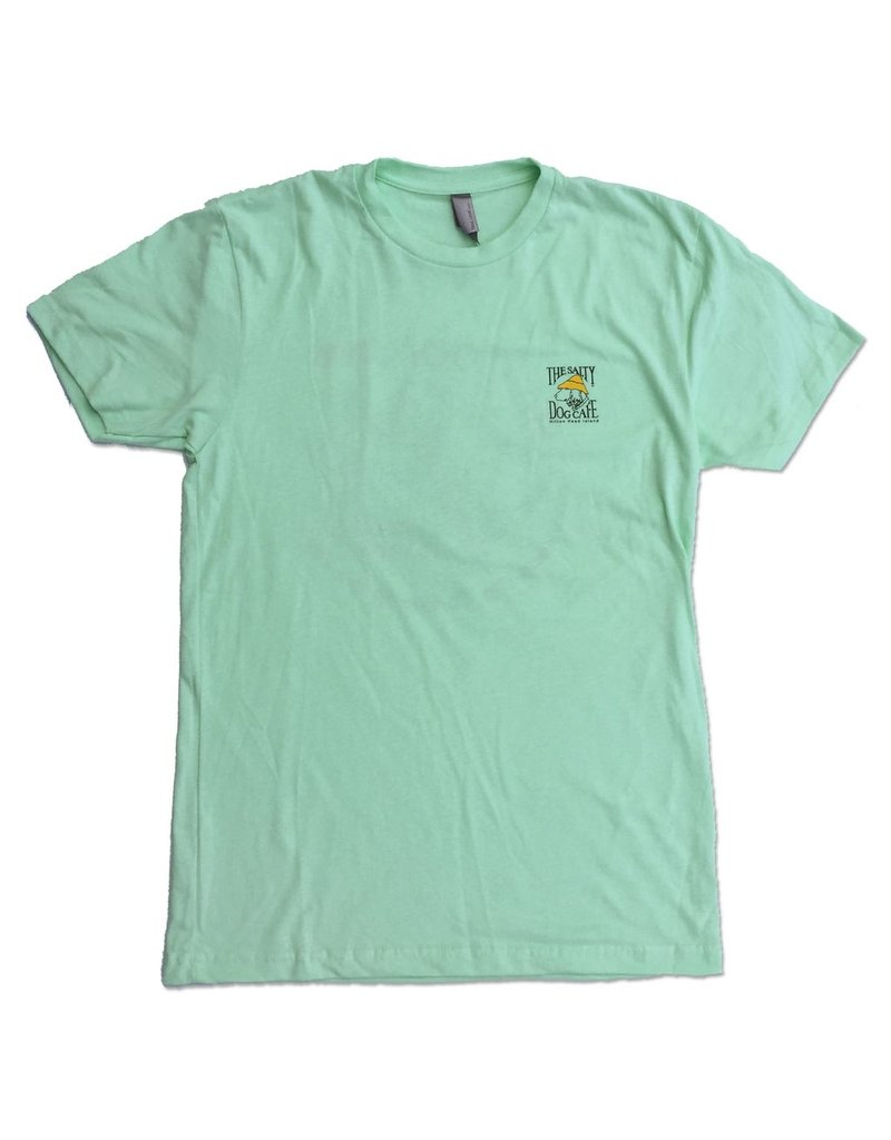 "T-Shirt ""Be Cool"" Turtle Tee in Mint"