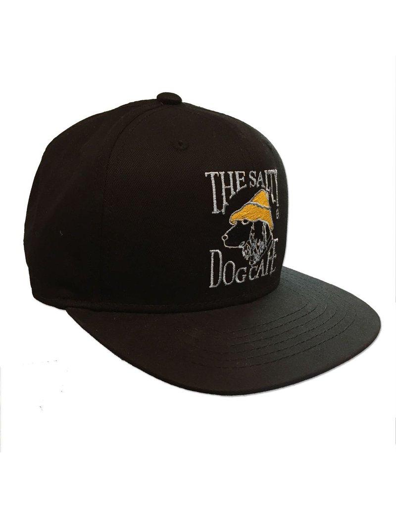 Hat Flat Bill Snap Back in Black