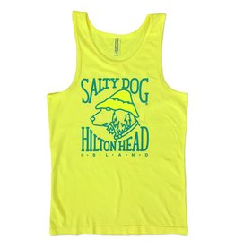 Tank Top Simple Dog Tank Top in Neon Blue