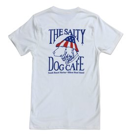 Salty Dog Forever Patriot Tee in White Linen